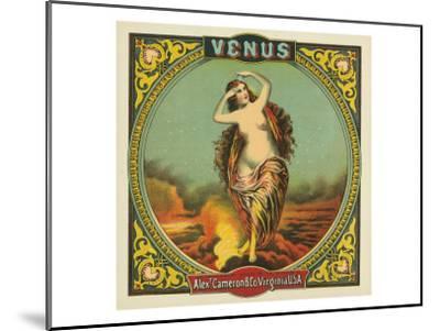 Virginia, Venus Brand Tobacco Label-Lantern Press-Mounted Art Print