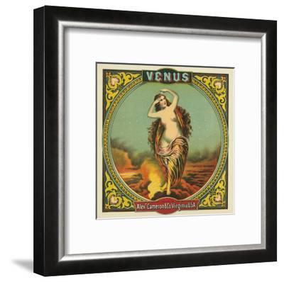 Virginia, Venus Brand Tobacco Label-Lantern Press-Framed Art Print