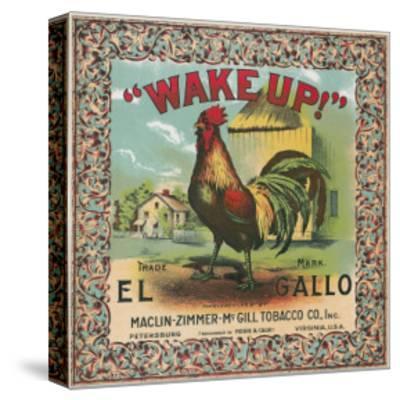 Petersburg, Virginia, Wake Up Brand Tobacco Label-Lantern Press-Stretched Canvas Print