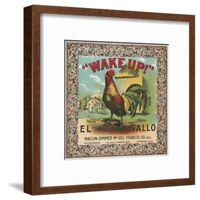 Petersburg, Virginia, Wake Up Brand Tobacco Label-Lantern Press-Framed Art Print