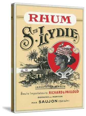 Rhum Ste. Lydie Brand Rum Label-Lantern Press-Stretched Canvas Print