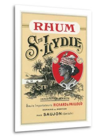 Rhum Ste. Lydie Brand Rum Label-Lantern Press-Metal Print
