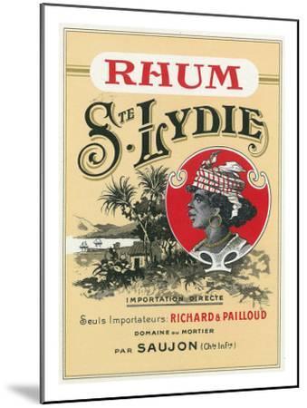 Rhum Ste. Lydie Brand Rum Label-Lantern Press-Mounted Art Print