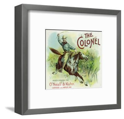 Missouri, The Colonel Brand Citrus Label-Lantern Press-Framed Art Print