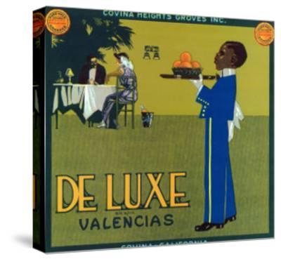 Covina, California, De Luxe Brand Citrus Label-Lantern Press-Stretched Canvas Print