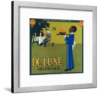 Covina, California, De Luxe Brand Citrus Label-Lantern Press-Framed Art Print