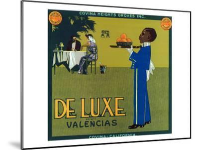 Covina, California, De Luxe Brand Citrus Label-Lantern Press-Mounted Art Print