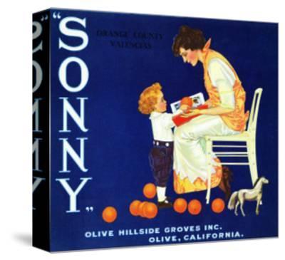 Olive, California, Sonny Brand Citrus Label-Lantern Press-Stretched Canvas Print