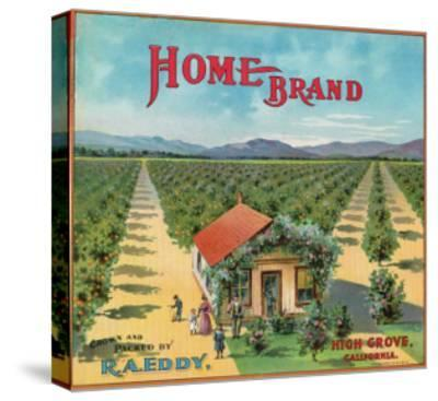 Highgrove, California, Home Brand Citrus Label-Lantern Press-Stretched Canvas Print