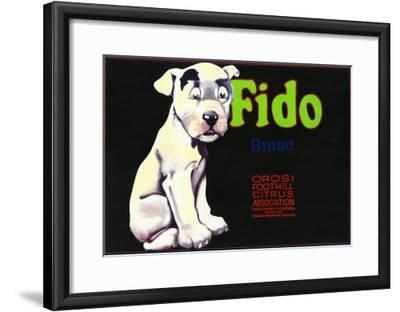 Orosi, California, Fido Brand Citrus Label-Lantern Press-Framed Art Print