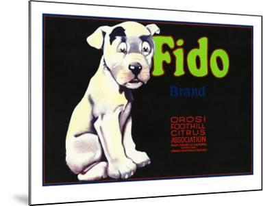 Orosi, California, Fido Brand Citrus Label-Lantern Press-Mounted Art Print