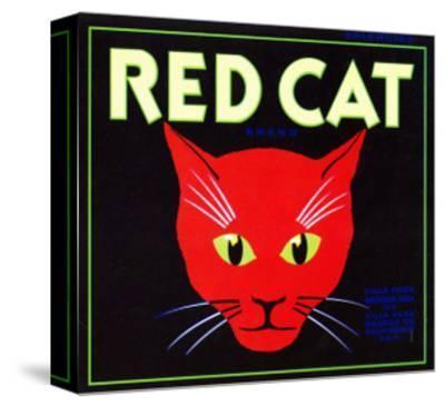 Villa Park, California, Red Cat Brand Citrus Label-Lantern Press-Stretched Canvas Print