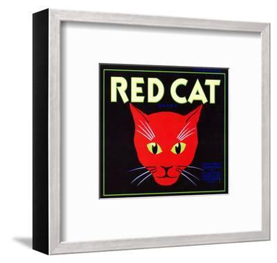 Villa Park, California, Red Cat Brand Citrus Label-Lantern Press-Framed Art Print