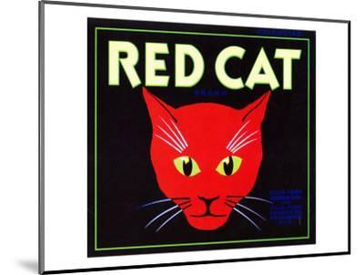 Villa Park, California, Red Cat Brand Citrus Label-Lantern Press-Mounted Art Print