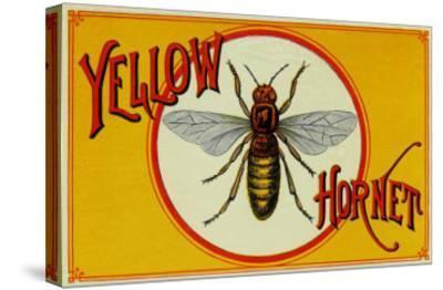 Yellow Hornet Brand Cigar Box Label-Lantern Press-Stretched Canvas Print