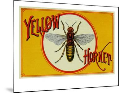 Yellow Hornet Brand Cigar Box Label-Lantern Press-Mounted Art Print