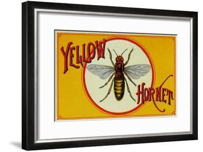 Yellow Hornet Brand Cigar Box Label-Lantern Press-Framed Art Print