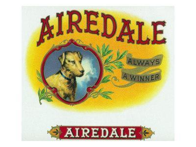 Airedale Brand Cigar Box Label-Lantern Press-Framed Art Print