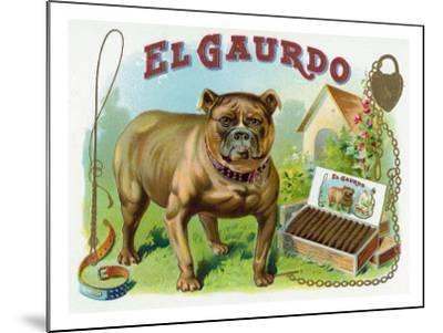 El Gaurdo Brand Cigar Box Label-Lantern Press-Mounted Art Print