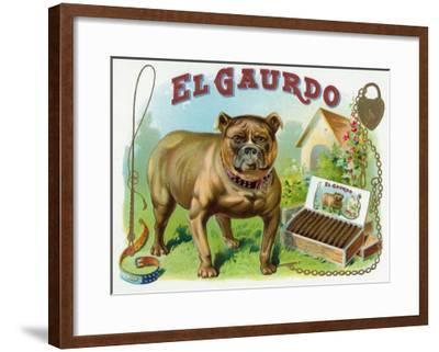 El Gaurdo Brand Cigar Box Label-Lantern Press-Framed Art Print
