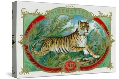 Tigerettes Brand Cigar Box Label-Lantern Press-Stretched Canvas Print