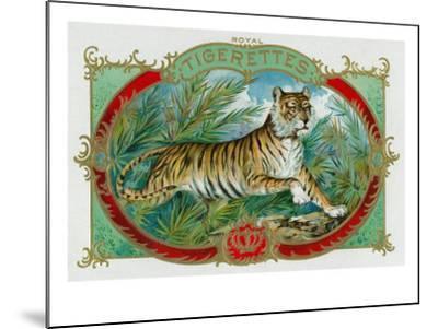 Tigerettes Brand Cigar Box Label-Lantern Press-Mounted Art Print