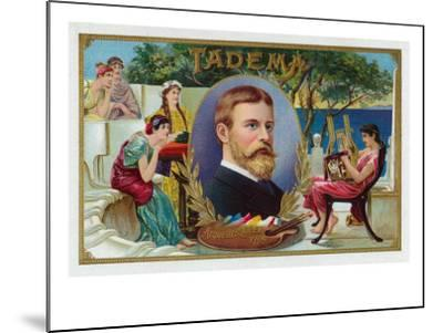 Tadema Brand Cigar Box Label-Lantern Press-Mounted Art Print
