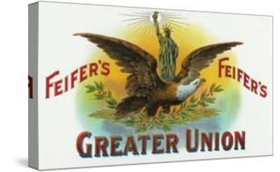 Feifer's Greater Union Brand Cigar Inner Box Label-Lantern Press-Stretched Canvas Print