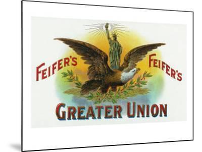 Feifer's Greater Union Brand Cigar Inner Box Label-Lantern Press-Mounted Art Print