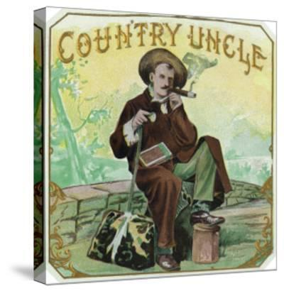 Country Uncle Brand Cigar Box Label-Lantern Press-Stretched Canvas Print