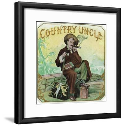 Country Uncle Brand Cigar Box Label-Lantern Press-Framed Art Print