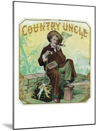 Country Uncle Brand Cigar Box Label-Lantern Press-Mounted Art Print