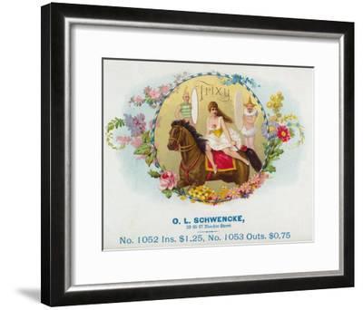 Trixy Brand Cigar Box Label-Lantern Press-Framed Art Print
