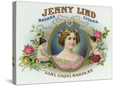 Jenny Lind Brand Cigar Box Label-Lantern Press-Stretched Canvas Print