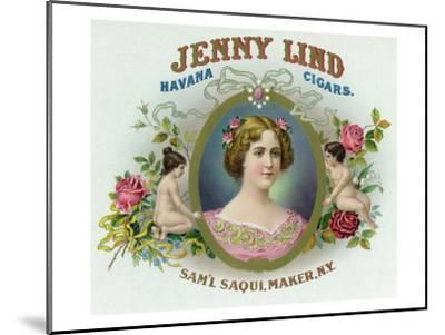 Jenny Lind Brand Cigar Box Label-Lantern Press-Mounted Art Print