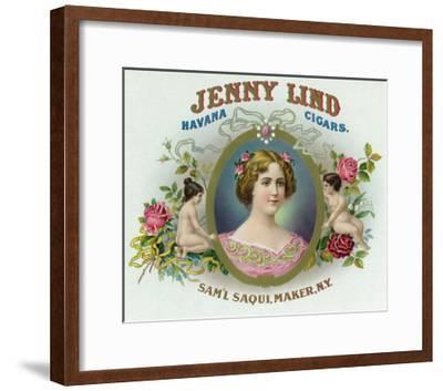 Jenny Lind Brand Cigar Box Label-Lantern Press-Framed Art Print