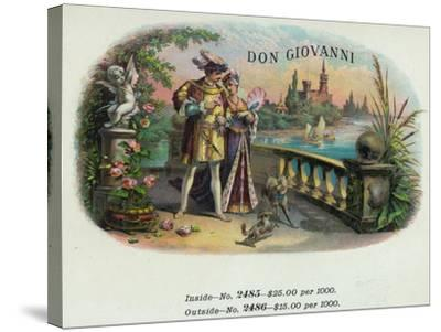 Don Giovanni Brand Cigar Inner Box Label-Lantern Press-Stretched Canvas Print