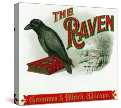 The Raven Brand Cigar Box Label-Lantern Press-Stretched Canvas Print