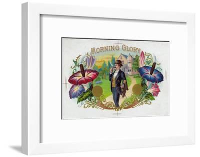 Morning Glory Brand Cigar Box Label-Lantern Press-Framed Premium Giclee Print