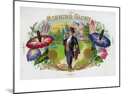 Morning Glory Brand Cigar Box Label-Lantern Press-Mounted Premium Giclee Print
