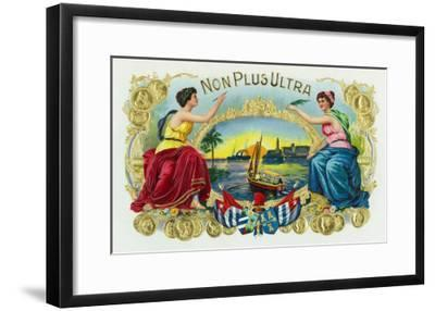 Non Plus Ultra Brand Cigar Box Label-Lantern Press-Framed Art Print