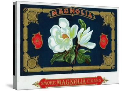 Magnolia Brand Cigar Box Label-Lantern Press-Stretched Canvas Print