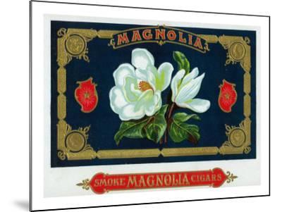 Magnolia Brand Cigar Box Label-Lantern Press-Mounted Art Print