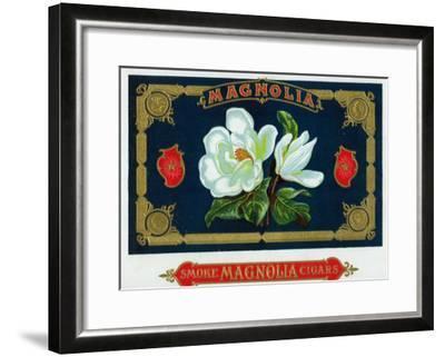 Magnolia Brand Cigar Box Label-Lantern Press-Framed Art Print
