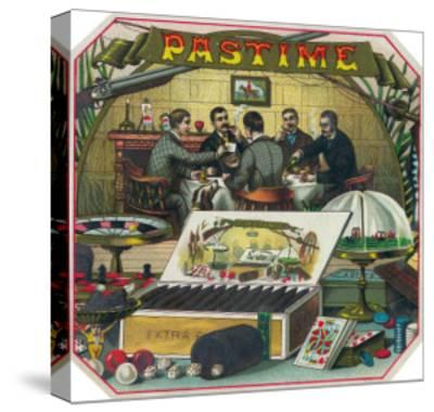 Pastime Brand Cigar Outer Box Label-Lantern Press-Stretched Canvas Print