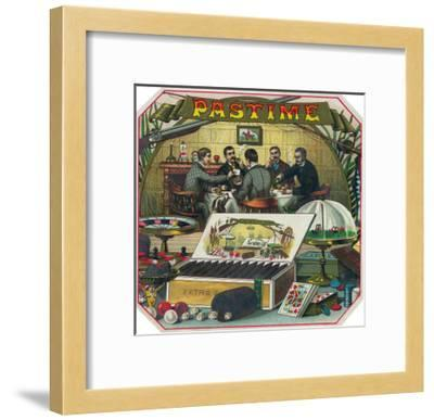 Pastime Brand Cigar Outer Box Label-Lantern Press-Framed Art Print