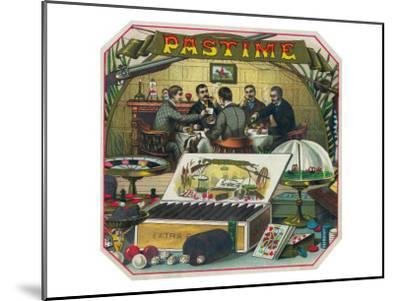 Pastime Brand Cigar Outer Box Label-Lantern Press-Mounted Art Print