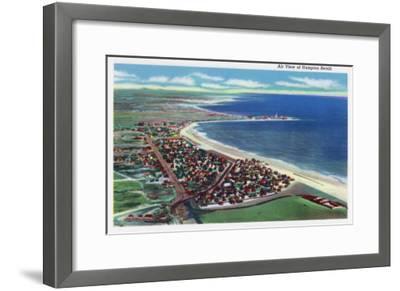 Hampton Beach, New Hampshire, Aerial View of the City-Lantern Press-Framed Art Print