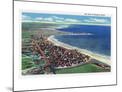Hampton Beach, New Hampshire, Aerial View of the City-Lantern Press-Mounted Art Print