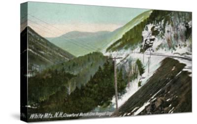 White Mountains, New Hampshire, View of Crawford Notch in August-Lantern Press-Stretched Canvas Print